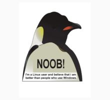 NOOB! I am a Linux snob Kids Tee