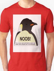 NOOB! I am a Linux snob Unisex T-Shirt