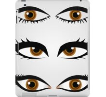 Different types of womens eyes iPad Case/Skin