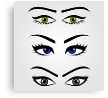 Different types of womens eyes Canvas Print
