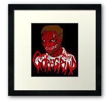 Goregrind Face Melt Framed Print