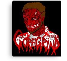 Goregrind Face Melt Canvas Print