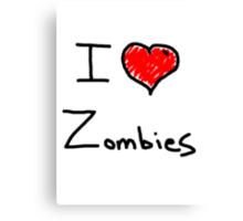 i love halloween zombies Canvas Print