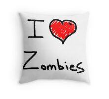 i love halloween zombies Throw Pillow