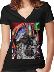 THE RACIST Women's Fitted V-Neck T-Shirt