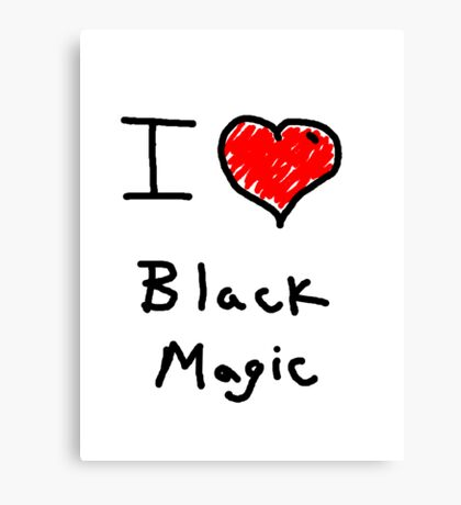 i love halloween black magic  Canvas Print