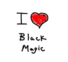 i love halloween black magic  Photographic Print