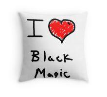 i love halloween black magic  Throw Pillow