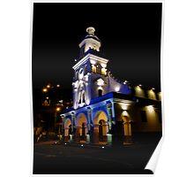 Mirador De Turi Church At Night Poster