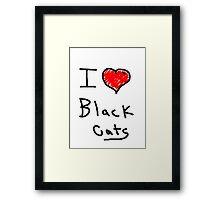 i love halloween black cats Framed Print