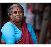 Woman With Red Bindi Photographic Print