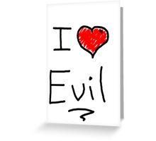 i love halloween evil Greeting Card
