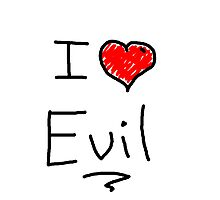 i love halloween evil Photographic Print