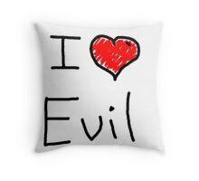 i love halloween evil Throw Pillow