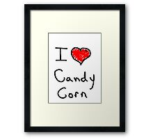 i love halloween candy corn  Framed Print