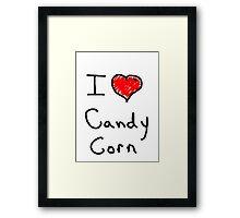 i love halloween candy corn  Framed Print