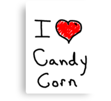 i love halloween candy corn  Canvas Print