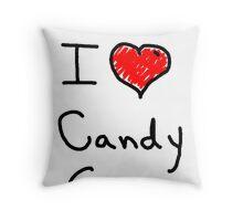 i love halloween candy corn  Throw Pillow