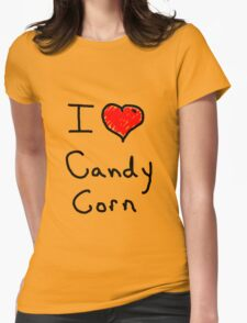 i love halloween candy corn  Womens Fitted T-Shirt