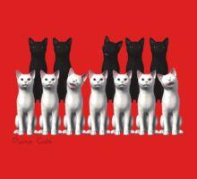 Piano Cats One Piece - Short Sleeve
