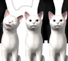 Piano Cats Sticker