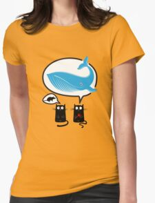 Cats and food Womens Fitted T-Shirt