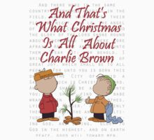 And That's What Christmas Is All About Charlie Brown Kids Tee