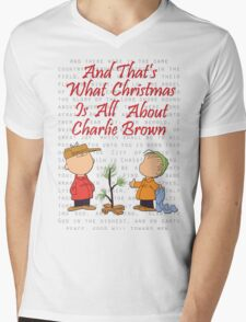 And That's What Christmas Is All About Charlie Brown Mens V-Neck T-Shirt