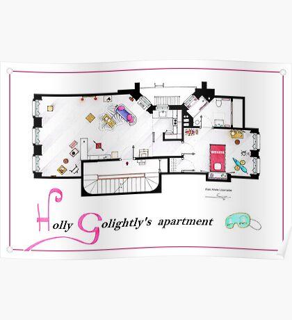 Breakfast at Tiffany's Apartment Floorplan v2 Poster
