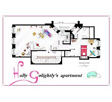 Breakfast at Tiffany's Apartment Floorplan v2 Photographic Print