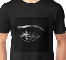 Silver eye with eyebrow and details inside  Unisex T-Shirt