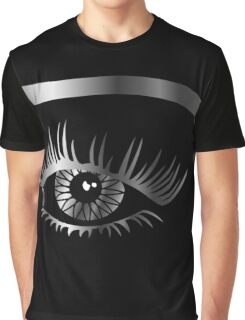 Silver eye with eyebrow and details inside  Graphic T-Shirt