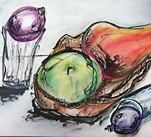 Expressive ink still life by zamix