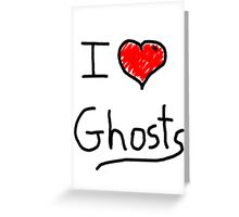 i love halloween ghosts Greeting Card