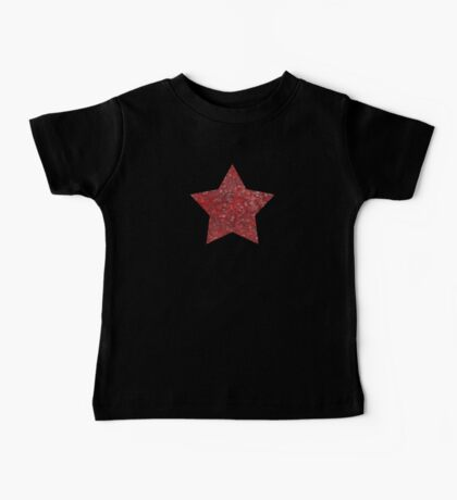 Red and black swirls doodles Baby Tee