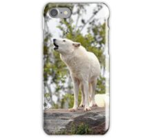 White Wolf Howling iphone case  iPhone Case/Skin