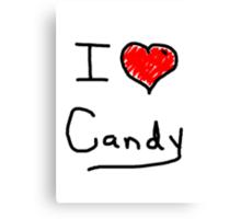 i love halloween candy  Canvas Print