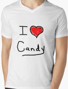 i love halloween candy  Mens V-Neck T-Shirt