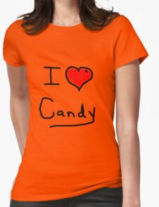 i love halloween candy  Womens Fitted T-Shirt