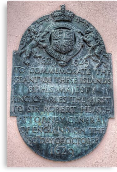 Commemorative Plaque at Parliament House in Downtown Nassau, The Bahamas by Jeremy Lavender Photography