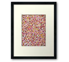 Round Sugar Sprinkles Framed Print