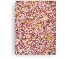 Round Sugar Sprinkles Canvas Print