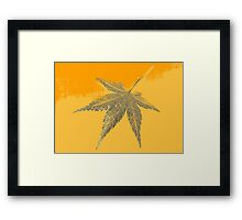 Autumn leaf fine art 2 Framed Print