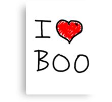 i love halloween boo Canvas Print