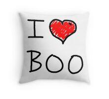 i love halloween boo Throw Pillow