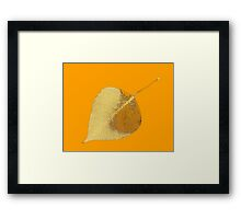 Yellow Autumn leaf fine art Framed Print