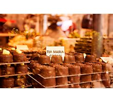 Delicious chocolate pralines in a window Photographic Print