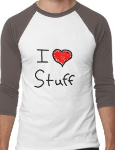 i love stuff  Men's Baseball ¾ T-Shirt