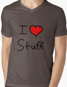 i love stuff  Mens V-Neck T-Shirt