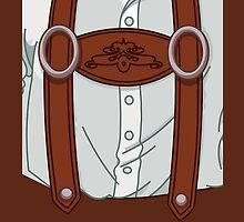 German Bavarian Lederhose iPhone 4 / iPhone 5 Case / iPad Case / Samsung Galaxy Cases  by CroDesign